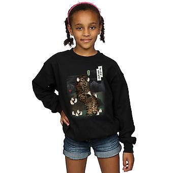 Star Wars Girls The Last Jedi Japanese Chewbacca Porgs Sweatshirt