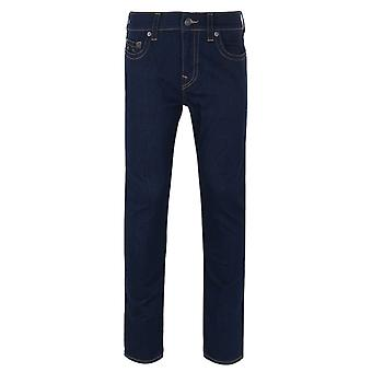 True Religion Rocco Light Wash Blue Relaxed Skinny Denim Jeans