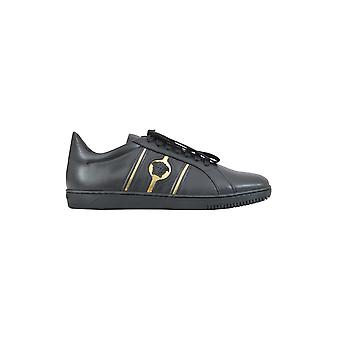 Versace men's DSU6450DV9PGD41ON black/gold leather of sneakers