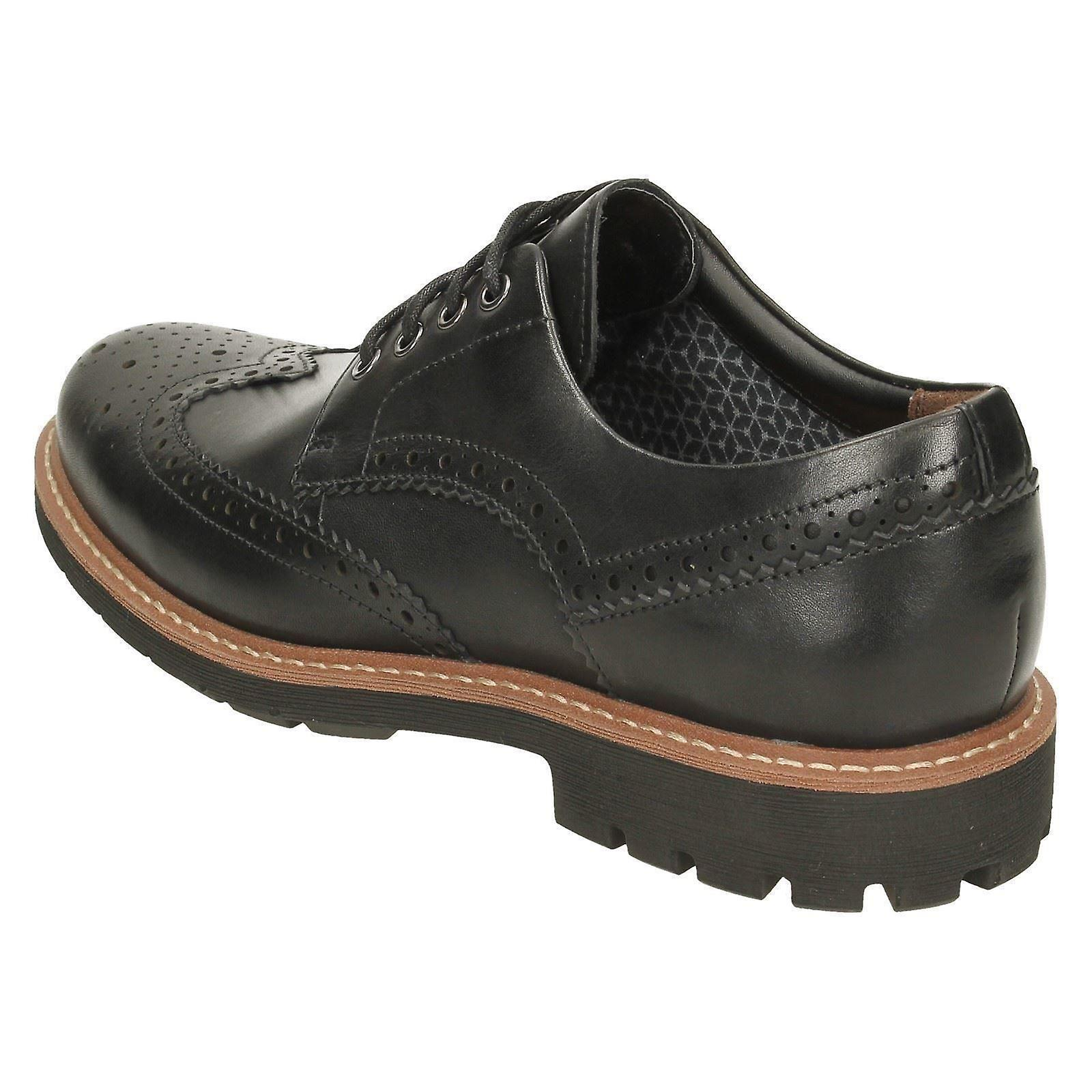 b7d53b88 Mens Clarks Formal Brogues Batcombe Wing - Black Leather - UK Size 12G - EU  Size 47 - US Size 13M