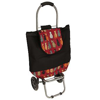 Cat Print Shopping Trolley