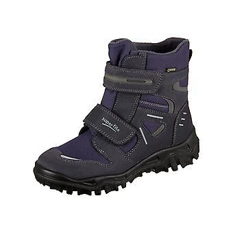 Zapatos de los cabritos de Superfit universal océano Camoscio Textil 10008080