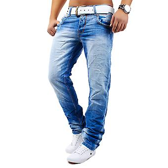 Men's Jeans pants of destroyed used slim fit ripped Matteo