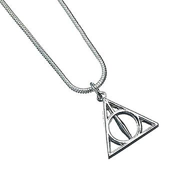 Harry Potter Necklace Deathly Hallows Emblem new Official Silver Plated