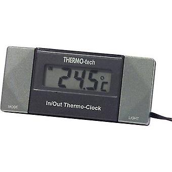 Thermometer Sensor cable, Stand, Inside temperature, Outside temperature, 12 hrs display 4518 Herbert Richter -50 up to