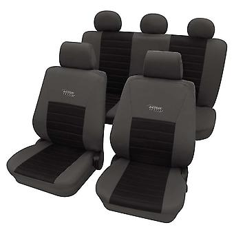 Sports Style Grey &, Black Seat Cover For Ford Escort Mk Vi Saloon 1993-1995