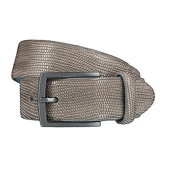 SAKLANI & FRIESE belts men's belts leather belt reptile look grey 4009