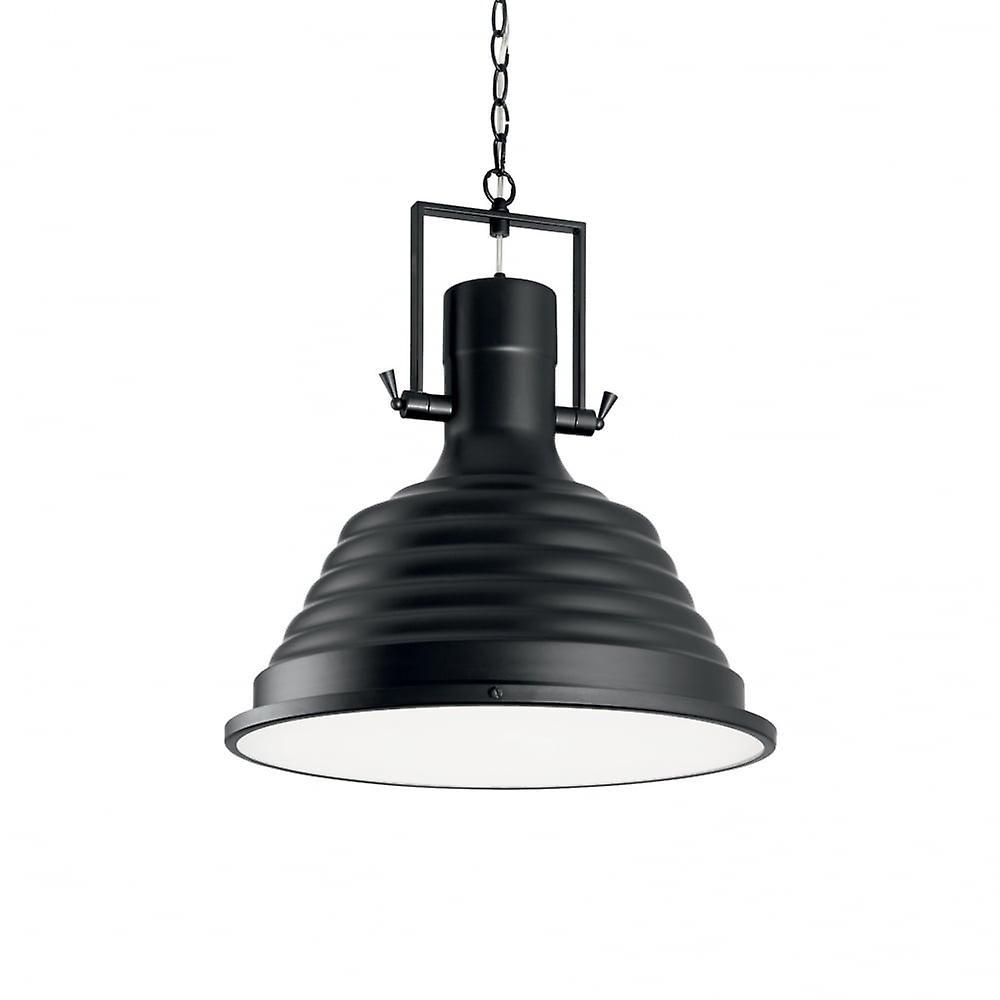 Ideal Lux noir pêcheur industrielle 48cm Pendentif Plafonnier