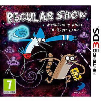 Regular Show Mordecai and Rigby in 8-bit Land (Nintendo 3DS)