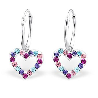 Cuore - 925 Sterling Silver Hoops