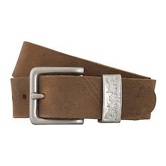 Levi BB´s bälten mäns bälten läder jeans bälte Brown 4916