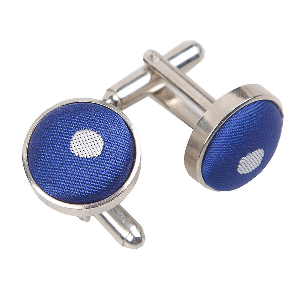 Royal Blue Polka Dot Cufflinks