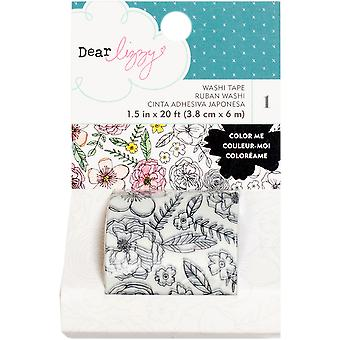 Dear Lizzy Lovely Day Washi Tape-Coloring 1.5