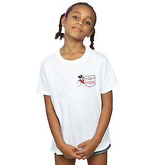 Disney Girls Mickey Mouse Faux Pocket Since 1928 T-Shirt