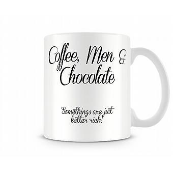 Kaffee Männer Schokolade gedruckt Mug