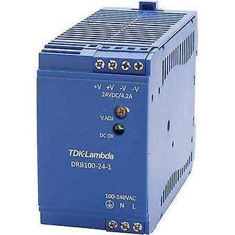 Rail mounted PSU (DIN) TDK-Lambda DRB-100-24-1 24 Vdc 4.2 A 100.8 W 1 x