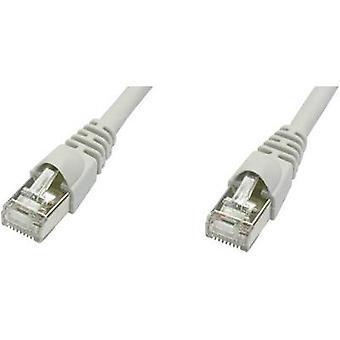 Telegärtner RJ45 réseaux câble CAT 5e m 50 F/UTP gris ignifuge, détente incl.