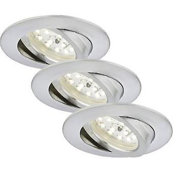 Briloner 7232-039 LED recessed light 3-piece set 16.5 W Warm white Aluminium