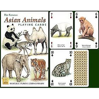 Asian Animals Set Of 52 Playing Cards (+ Jokers)
