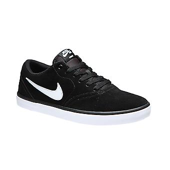 NIKE SB check men's skateboard sneaker black