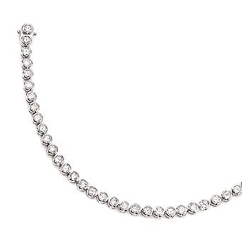 Bracelet 925 /-s with FAITH of cubic zirconia 925 sterling silver