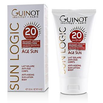 Guinot Sun Logic Age Sun Anti-Ageing Sun Lotion For Body SPF 20 - 150ml/4.4oz