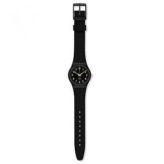 Swatch Gb274 Golden Tac Black & Gold Silicon Watch