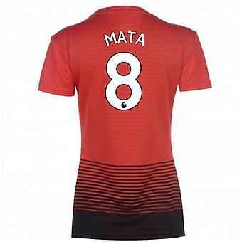 2018-2019 Man Utd Adidas Womens Home Shirt (Mata 8)
