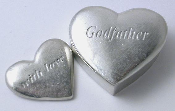 Godfather - Zinn-Herz-Box mit kleinen Herzen