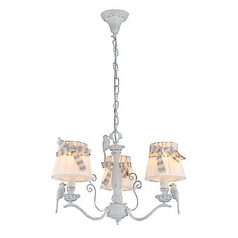 Maytoni Lighting Antique White Bird Design 3 Chandelier With Bulb Shades