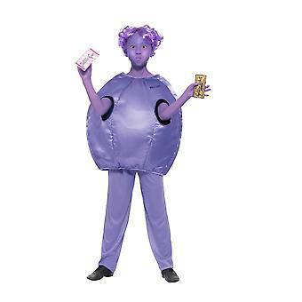 Smiffy's Roald Dahl Deluxe Violet Beauregarde Costume,Licensed Fancy Dress