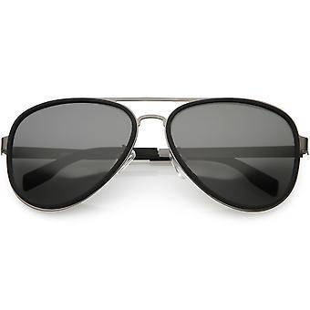 7f609aeca67caf Métal des femmes d armes Aviator lunettes de soleil polarisées Lens 57mm