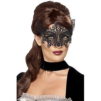 Embroidered lace filigree swirl Eyemask