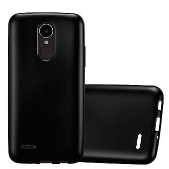 Cadorabo Hülle für LG K4 2017 - Handyhülle aus TPU Silikon im Matt Metallic Design - Silikonhülle Schutzhülle Ultra Slim Soft Back Cover Case Bumper