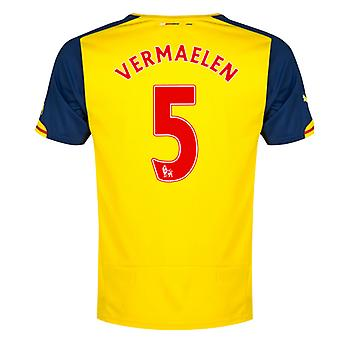 2014-15 Arsenal Away Shirt (Vermaelen 5) - Kids