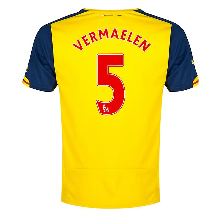 2014-15 arsenal Away skjorta (Vermaelen 5) - barn