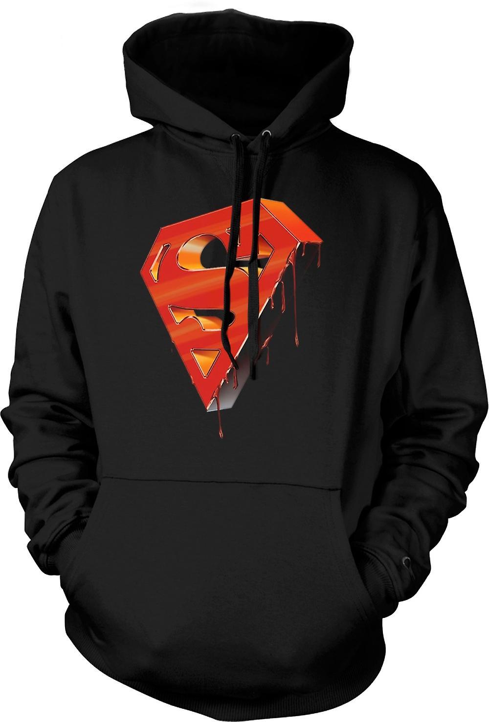 Para hombre con capucha - 3D Superman Logo