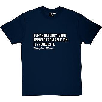 Camiseta Christopher Hitchens humanos decencia citar hombres