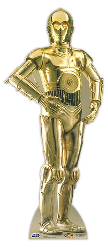 C3PO - Star Wars Lifesize Figura de cartón / espectador de pie