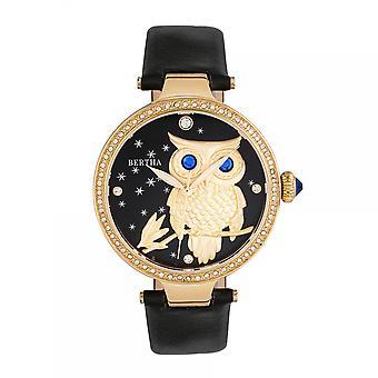 Bertha Rosie Leather-Band Watch - Gold/Black