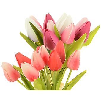 11 Head Small Artificial Tulip Bunch for Floristry Crafts