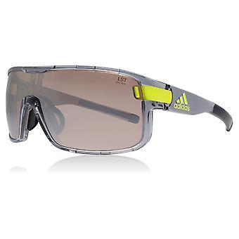 Adidas AD04 6053 Grey Transparent Zonyk Visor Sunglasses Lens Category 2 Lens Mirrored Size 45mm