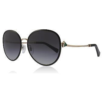 Bvlgari BV6106B ز 20338 عدسة النظارات الشمسية شكل بيضوي BV6106B أسود/وردي/الذهب حجم الفئة 3 مم 59