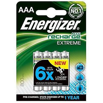 Energizer 800mAh AAA Extreme Rechargeable Batteries (Pack of 4)