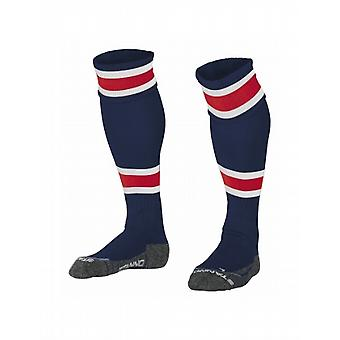 Stanno League Football Socks (navy-red)