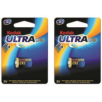 2-pack batteri CR2 Lithium Kodak Ultra, 3V