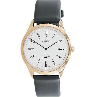 Aristo Bauhaus 1069 Men's Watch stainless steel 0H16 leather