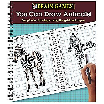 Brain Games You Can Draw Animals - Easy-To-Do Drawings Using the Grid