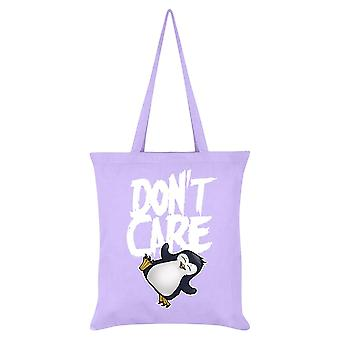 Psycho Penguin Don't Care Tote Bag