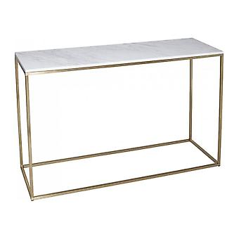 Gillmore Space White Marble And Gold Metal Contemporary Console Table